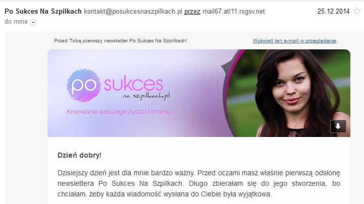 Newsletter Po Sukces Na Szpilkach