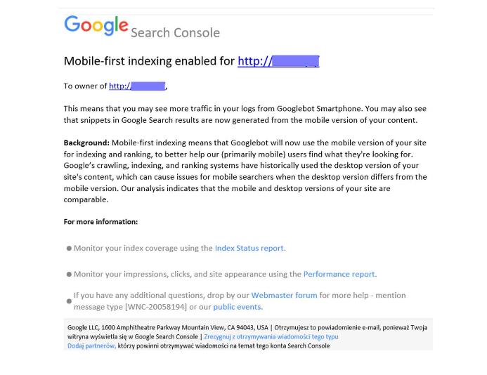indeksowanie google